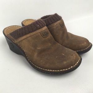 UGG Sz 8 Slides Mules Wedges Women's Shoes
